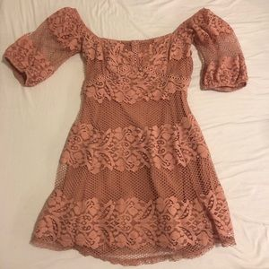 Free People Be Your Baby pink lace dress